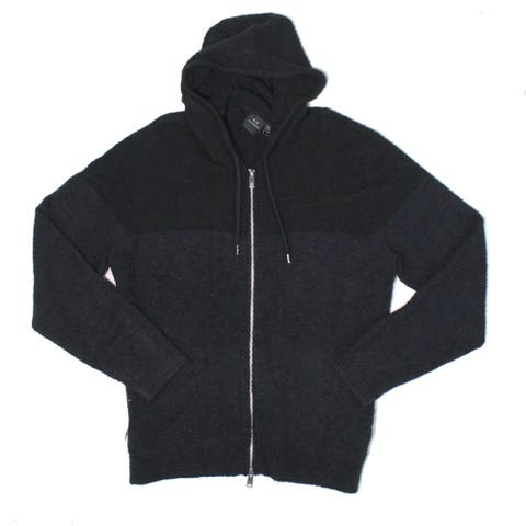 Armani Exchange Mens Sweater Black Size XL Cardigan Full Zip Hoodie