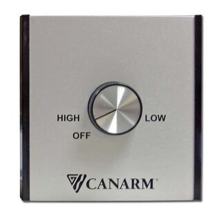 Canarm CN5151 2 Speed Ceiling Fan Wall Control with Support for up to 12 Fans