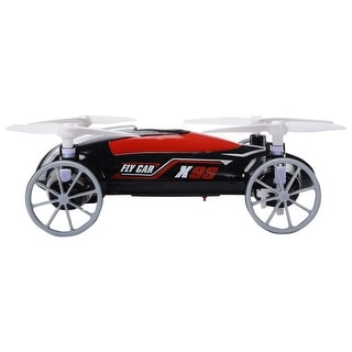 Costway Syma X9S 2.4G 4CH 6-Axis RC Flying Car Remote Control Quadcopter 3D Land Sky Black