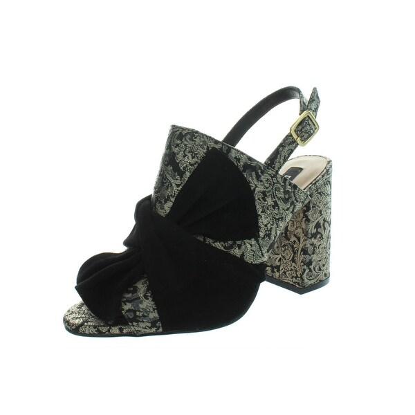 d7fd82543fff Shop DKNY Womens Ferry Slingback Heels Brocade Open Toe - Free ...