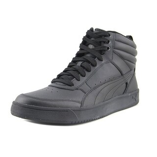 Puma Rebound Street v2 Men Round Toe Leather Black Sneakers