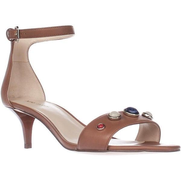 Nine West Lilac Ankle Strap Dress Sandals, Dark Natural