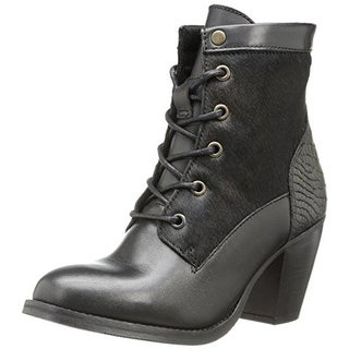 Bronx Womens Mar Laina Combat Boots Leather Fur