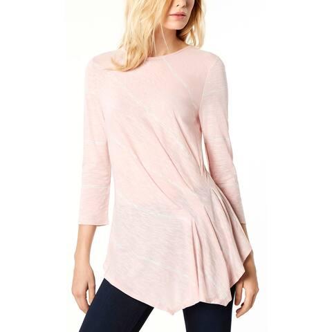 Vince Camuto Ladies Striped Handkerchief Hem Top X-Large XL Lustre Pink