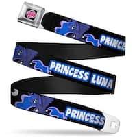My Little Pony Logo Full Color Black Pink Princess Luna Black Cobalt White Seatbelt Belt