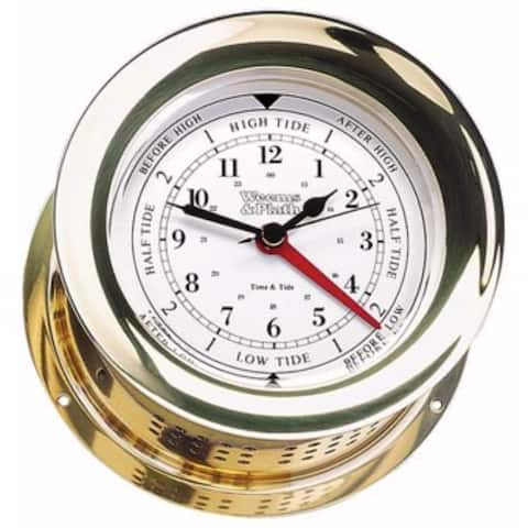 """8"""" Gold Traditional Round Shaped Tide and Time Clock"""
