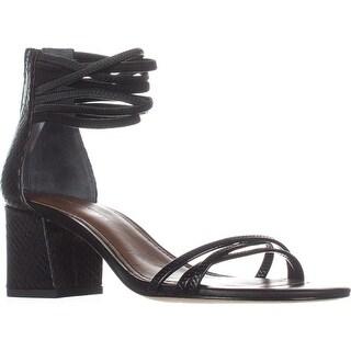 Donald J Pliner Essie Ankle Strap Dress Sandals, Black/Black