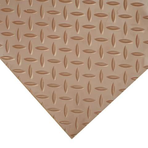 "Goodyear Diamond-Plate Rubber Flooring -- 3.5mm x 36"" x 6ft - Brown - 36x72"