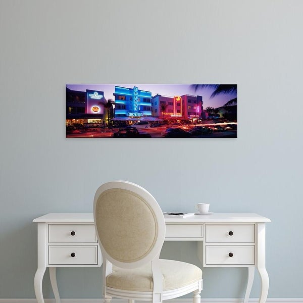 Easy Art Prints Panoramic Images S Ocean Drive South Beach Miami Fl Usa Premium Canvas On Free Shipping Orders Over 45