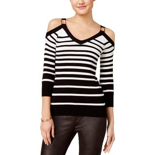 XOXO Womens Pullover Sweater Cold Shoulder V-Neck - XS