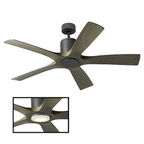 Aviator Indoor and Outdoor 5-Blade Smart Ceiling Fan 54in with Wall Control (Light Kit Sold Separately)