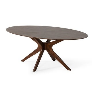 Link to Modrest Prospect Modern Oval Walnut Dining Table Similar Items in Dining Room & Bar Furniture