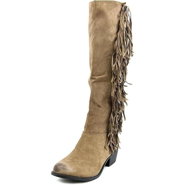 Not Rated Womens Trindy Fabric Closed Toe Knee High Fashion Boots