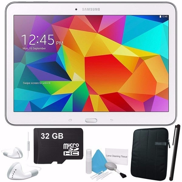 Samsung Galaxy Tab 4 10.1 SM-T530 Android Bundle with Black Case (Open Box)