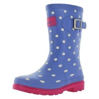 Joules Junior Girls Welly Rain Rubber Boots Waterproof