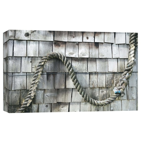 """PTM Images 9-102164 PTM Canvas Collection 8"""" x 10"""" - """"Weathered Shake At Alki"""" Giclee Ropes Art Print on Canvas"""