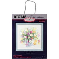 "Tulips Counted Cross Stitch Kit-12""X12"" 14 Count"