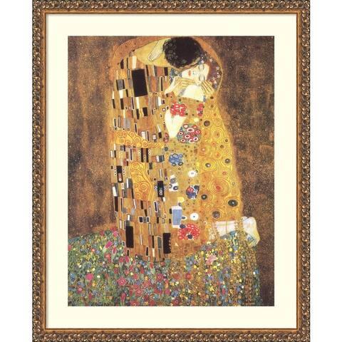 The Kiss (Le Baiser / Il Baccio) 1907 by Gustav Klimt Framed Wall Art
