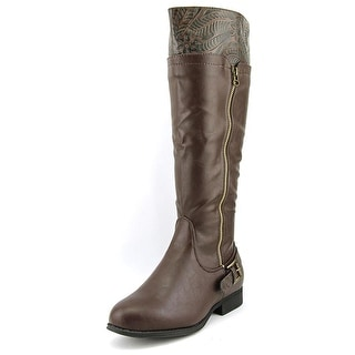 Easy Street Burke WW Round Toe Synthetic Knee High Boot
