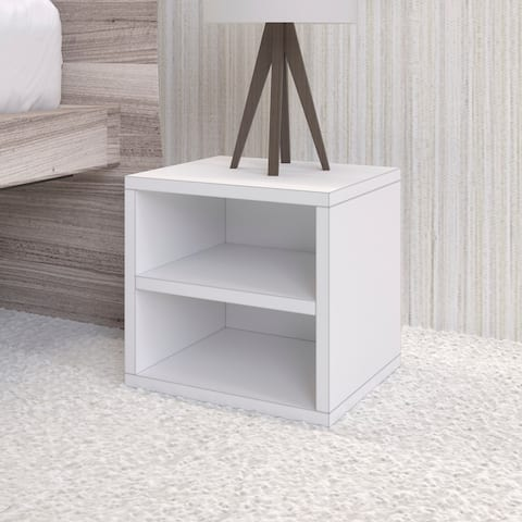 Way Basics Eco Stackable Shelf Cube, Modular Storage and Organizer, White