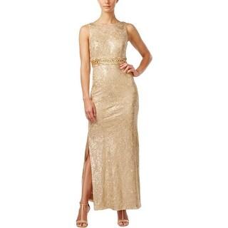 Calvin Klein Womens Evening Dress Sequinned Metallic