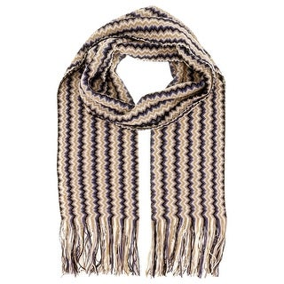 Missoni D4906 Wool Blend Crochet Knit Scarf