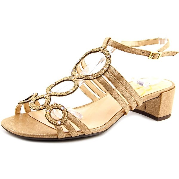 J. Renee Terri Women W Open Toe Canvas Tan Sandals