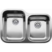 "Blanco 440234 Supreme 1-3/4 Basin Undermount Stainless Steel Kitchen Sink 31 5/16"" x 20 7/8"" - satin polished - n/a"