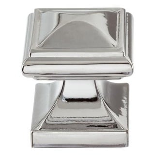 Atlas Homewares 370 Wadsworth 1-1/4 Inch Square Cabinet Knob - Polished chrome