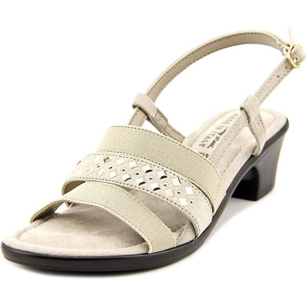 Easy Street Bruzio Women W Open-Toe Synthetic Gray Slingback Sandal