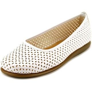 A2 By Aerosoles Solsa Dance Women W Round Toe Synthetic White Flats