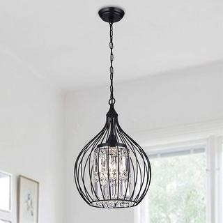 Link to Acatia Round 3-Light Black Foyer Metal Pendant Similar Items in Pendant Lights