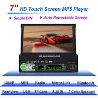Single 1 Din 7 Inch Flip Car Stereo Radio Player Touch Screen USB SD