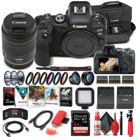 Canon EOS R6 Mirrorless Camera W/ 24-105mm f/4-7.1 Lens - Advanced
