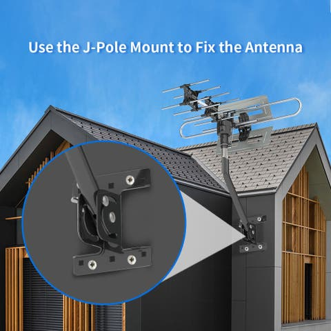 360°Rotation UV Dual Frequency 45-860MHz 22-38dB Outdoor TV Antenna