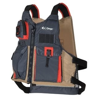 Onyx Kayak Fishing Paddle Vest Tan Adult Oversize 121700-706-005-17