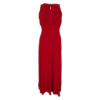 Style & Co. Women's Keyhole Sleeveless Gown - Holiday Red