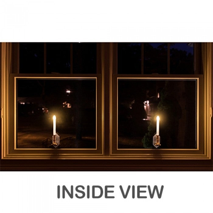 (2 Pack)CAROLITE Solar Holiday Window Candles Flickering Light - Thumbnail 1