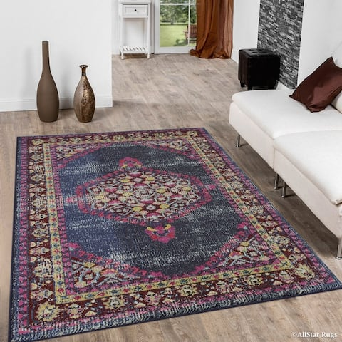 Allstar Traditional Accent Rug with Bakhtiari design