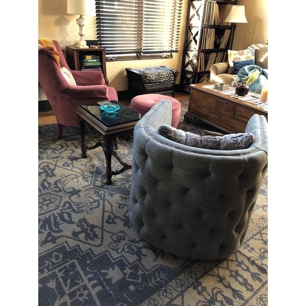 Madison Park Wilmette Slate Swivel Chair