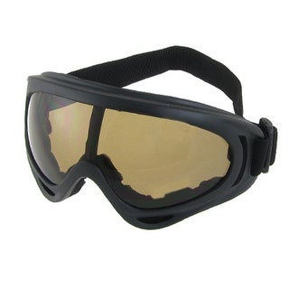 Adjustable Strap Full Frame Mirror Lens Ski Skate Eyewear Glasses Goggles Black