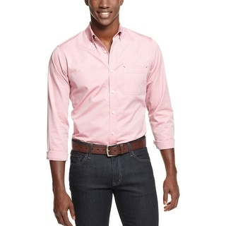 Argyle Culture By Russell Simmons Button-Down Shirt Mesa Rose Pink Medium