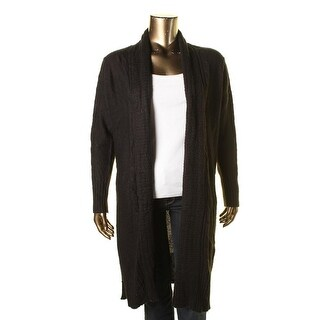 Junarose Womens Plus Open Front Cardigan Duster Sweater - 1X