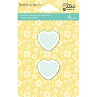 Shaker Tag Insert-Small Heart, 6/Pkg