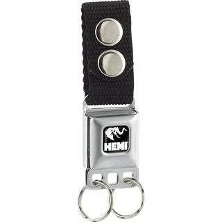 Hemi Elephant Logo Full Color Black White Keychain