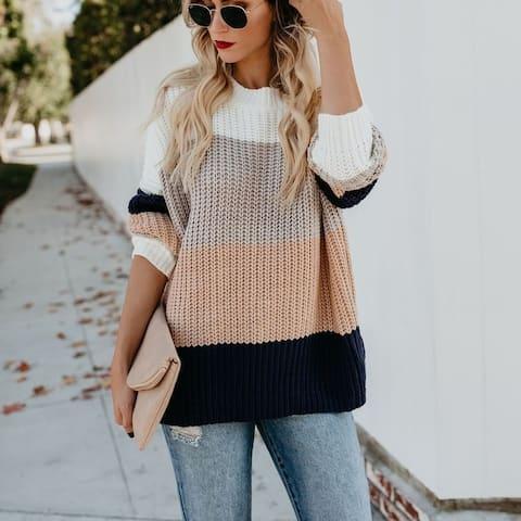 2019 New Explosion Striped Rainbow Sweater