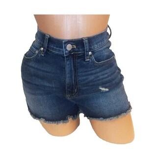 Victoria's Secret PINK High-Waist Dark Washed Demin Shorts - dark washed