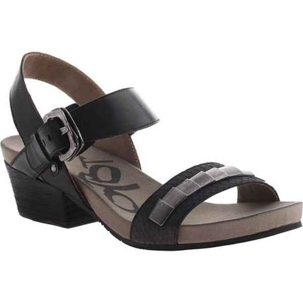 cd57edcf4d0 Shop OTBT Women s La Luz Sandal Black Scale Leather - On Sale - Free  Shipping Today - Overstock - 10284567