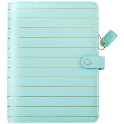"""Blue W/Gold Stripe - Color Crush A5 Faux Leather Planner Kit 7.5""""X10"""""""