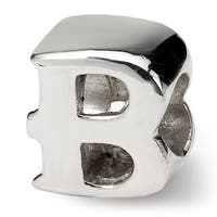 Sterling Silver Reflections Letter B Bead (4mm Diameter Hole)